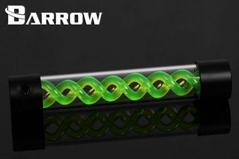 Barrow vanntank m/Green Helix, 305, Ø=50mm, l=305mm, Black, Plexi
