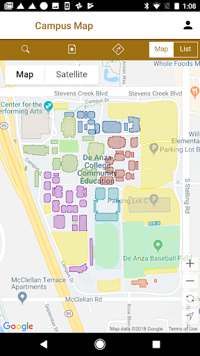 on de anza campus map