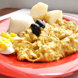 Peruvian Creamy Yellow-Chili Chicken