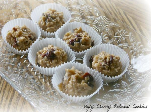 Ugly Cherry Oatmeal No Bake Cookies Recipe
