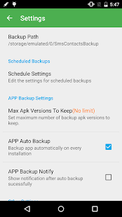 Super Backup Pro: SMS&Contacts Screenshot