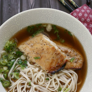 Udon w/ Grilled Fish & Scallions