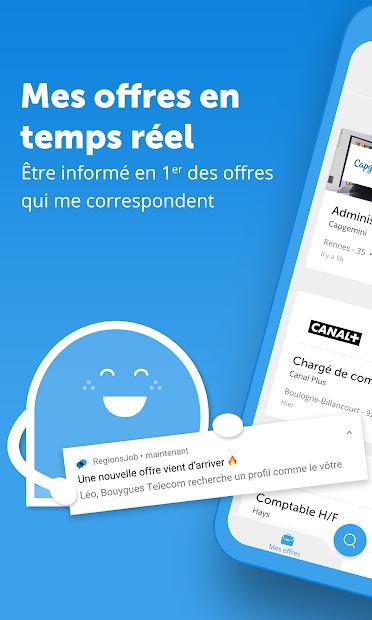 RegionsJob : Postulez aux Offres d'Emploi Android App Screenshot