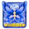 Blue Gold Butterfly Keyboard icon