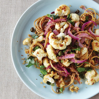 Roasted Cauliflower Linguine with Lemon-Caper Sauce