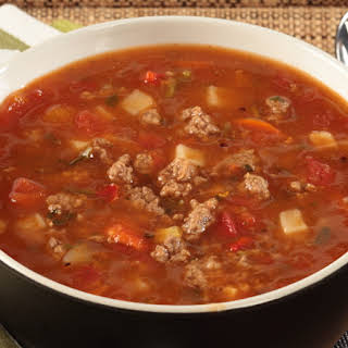 Fire Roasted Vegetable Beef Soup.