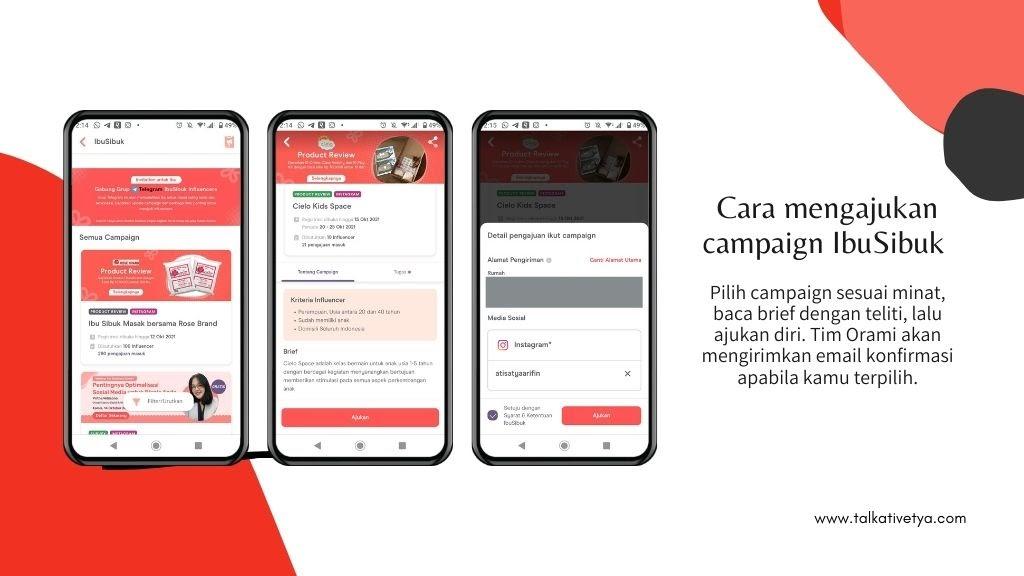 cara mengikuti campaign yang ada pada IbuSibuk Orami