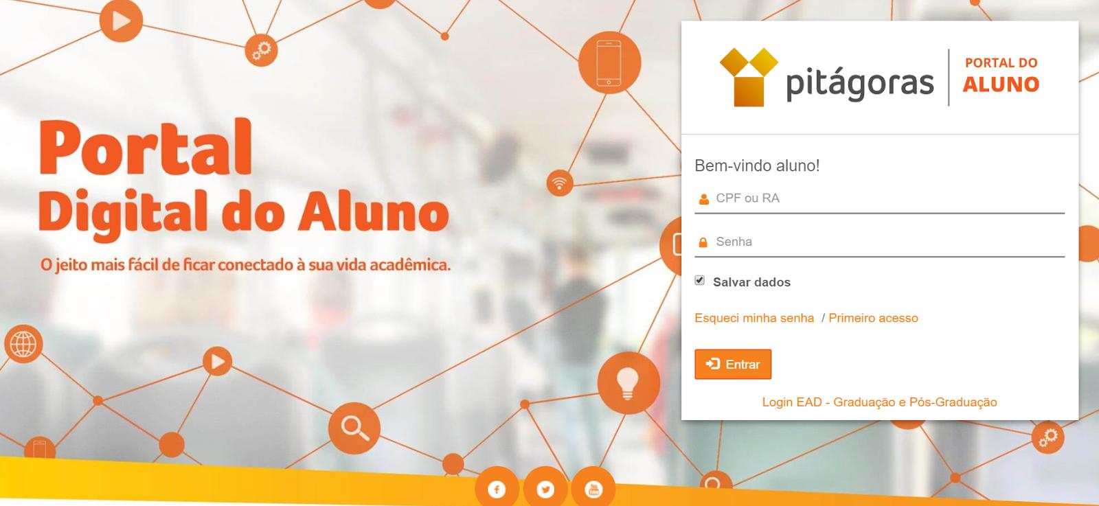 acesso portal do aluno pitágoras