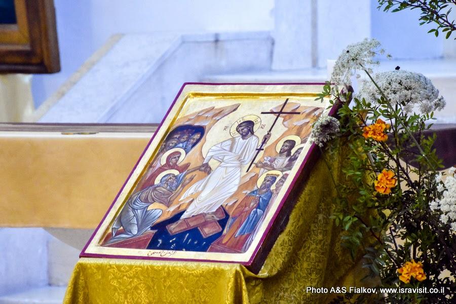 Икона в церкви Девы Марии монастыря Дир Рафат, Израиль.