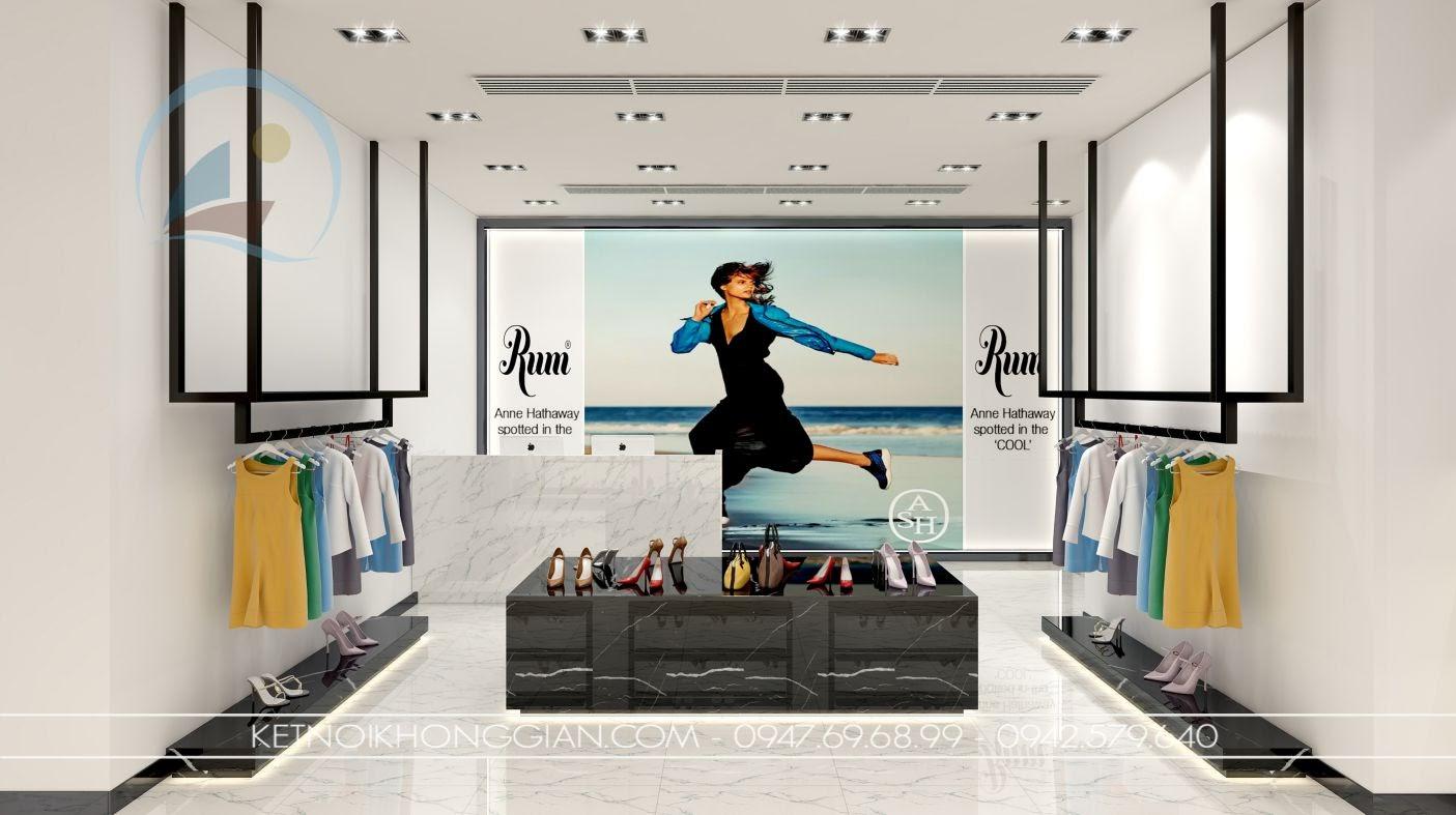 thiết kế cửa hàng giày dép giá rẻ
