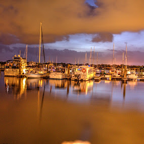 Boats and Clouds by Keith Wood - Transportation Boats ( kewphoto, hdr, beaufort sc, keith wood,  )