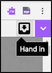 Hand in button