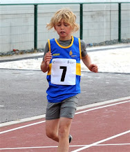 Photo: Adam O'Dwyer taking part in the Boys U/10 200m