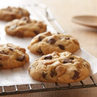 Double Peanut Butter & Milk Chocolate Chip Cookies.