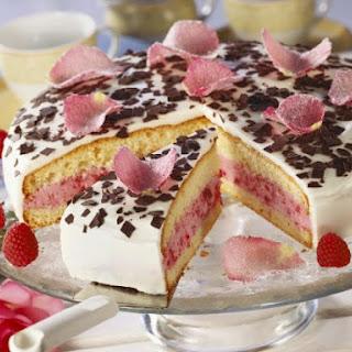 Yogurt Cream Raspberry Cake