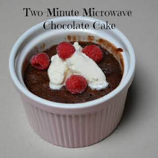 Two Minute Microwave Chocolate Cake.