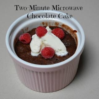Two Minute Microwave Chocolate Cake.