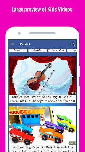 KidVid - Kids YouTube Videos 9.0 screenshots 3