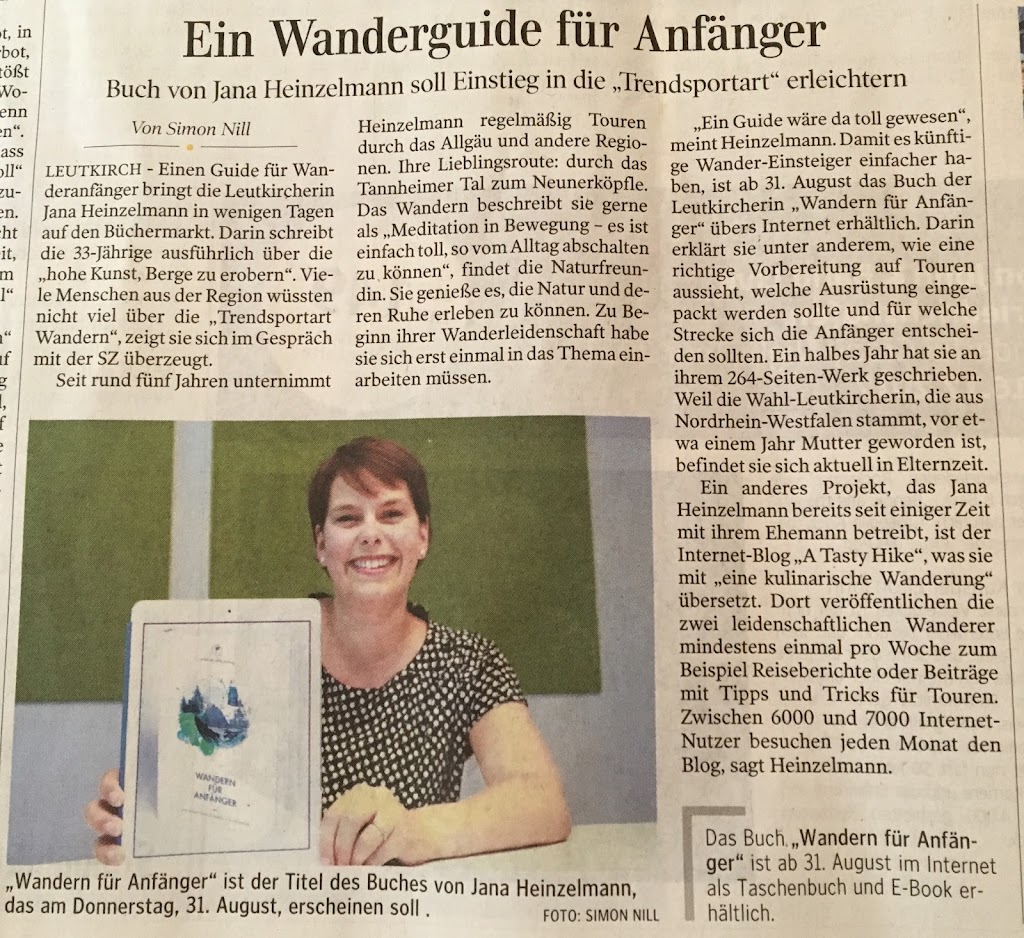 Wandern für Anfänger von Jana Heinzelmann in der Schwäbischen Zeitung