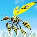 Flying Bee Transform Robot War: Robot Games icon