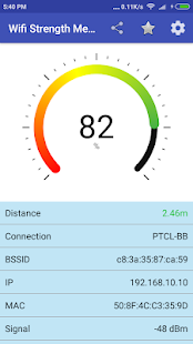 Wifi Strength Meter Pro Screenshot