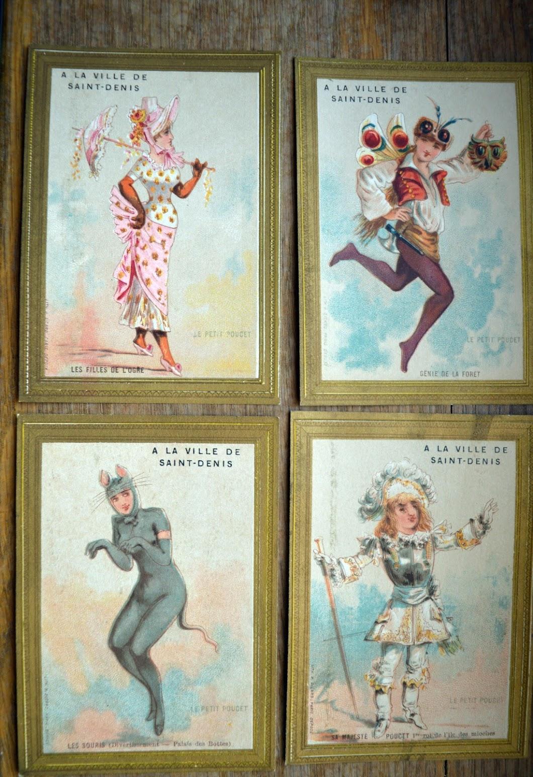 Der kleine Däumling - Le Petit Poucet - Werbekarten der Kaufhauses A la Ville de Saint-Denis