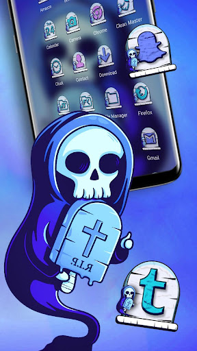 Skull RIP Theme Launcher Theme screenshots 3