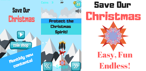 Simple arcade swipe game. Only you can save our Christmas!