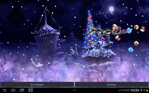 Christmas Snow Fantasy Live Wallpaper screenshots 2