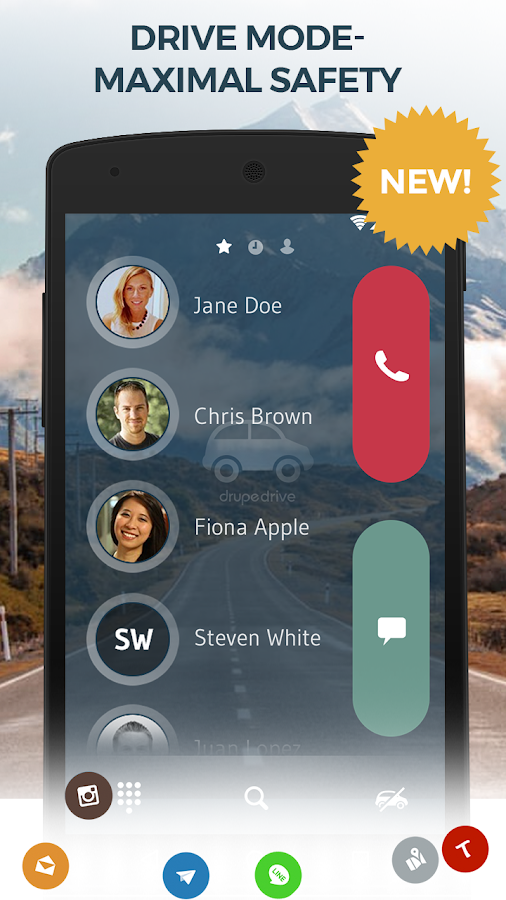 Contacts, Phone Dialer & Caller ID: drupe- screenshot