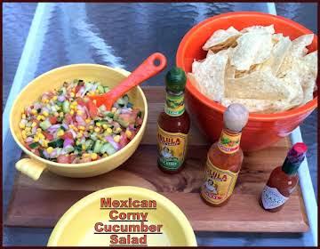 Mexican Corny Cucumber Salad