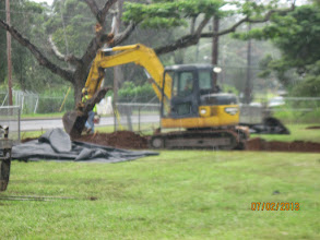 Photo: The work begins!  We need a place for all the trucks and other vehicles to come through.