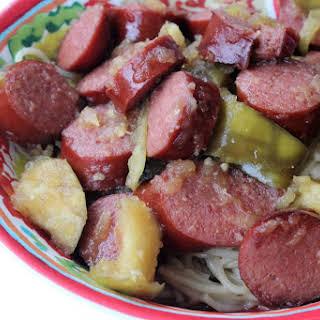 Slow Cooked Apple Kielbasa.