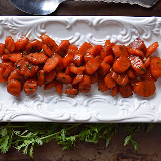 Easy Marsala Wine Cooked Spring Carrots.