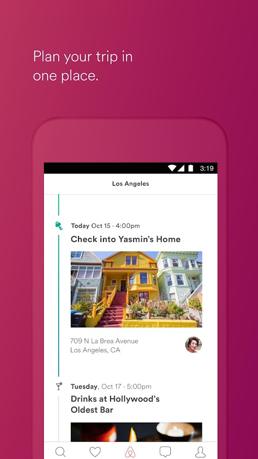 Screenshots of Airbnb for iPhone