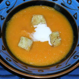 Carrot Ginger Soup With Coconut Cream