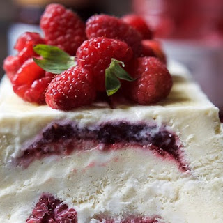 Raspberry Amaretto Semifreddo #Recipe