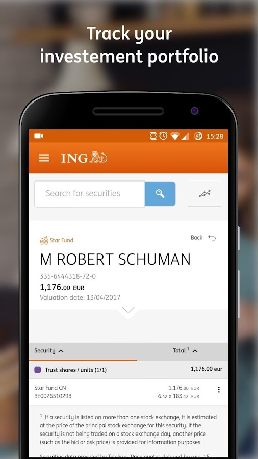 ING Smart Banking- screenshot