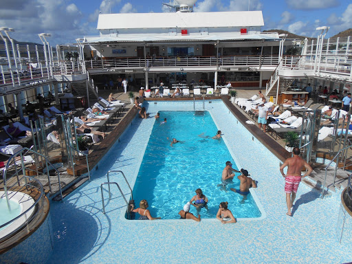 Silver Muse pool is one of the longest and most inviting on any ship