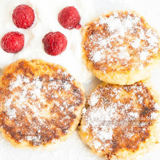 Syrniki – Russian Cottage Cheese Pancakes.