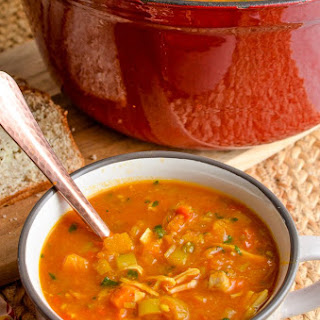 Syn Free Spicy Chicken and Vegetable Soup.