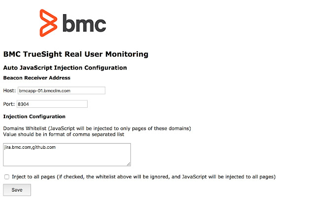 BMC TrueSight Real User Monitoring Plugin