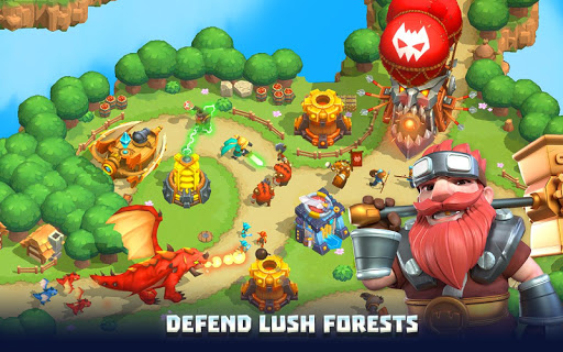 Wild Sky TD: Tower Defense Legends in Sky Kingdom filehippodl screenshot 1