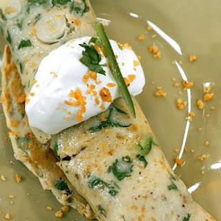 Spicy Sausage Corn Chip Crepes.