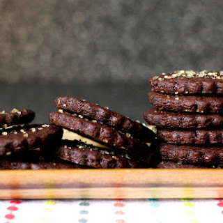 Intensely Chocolate Sables.