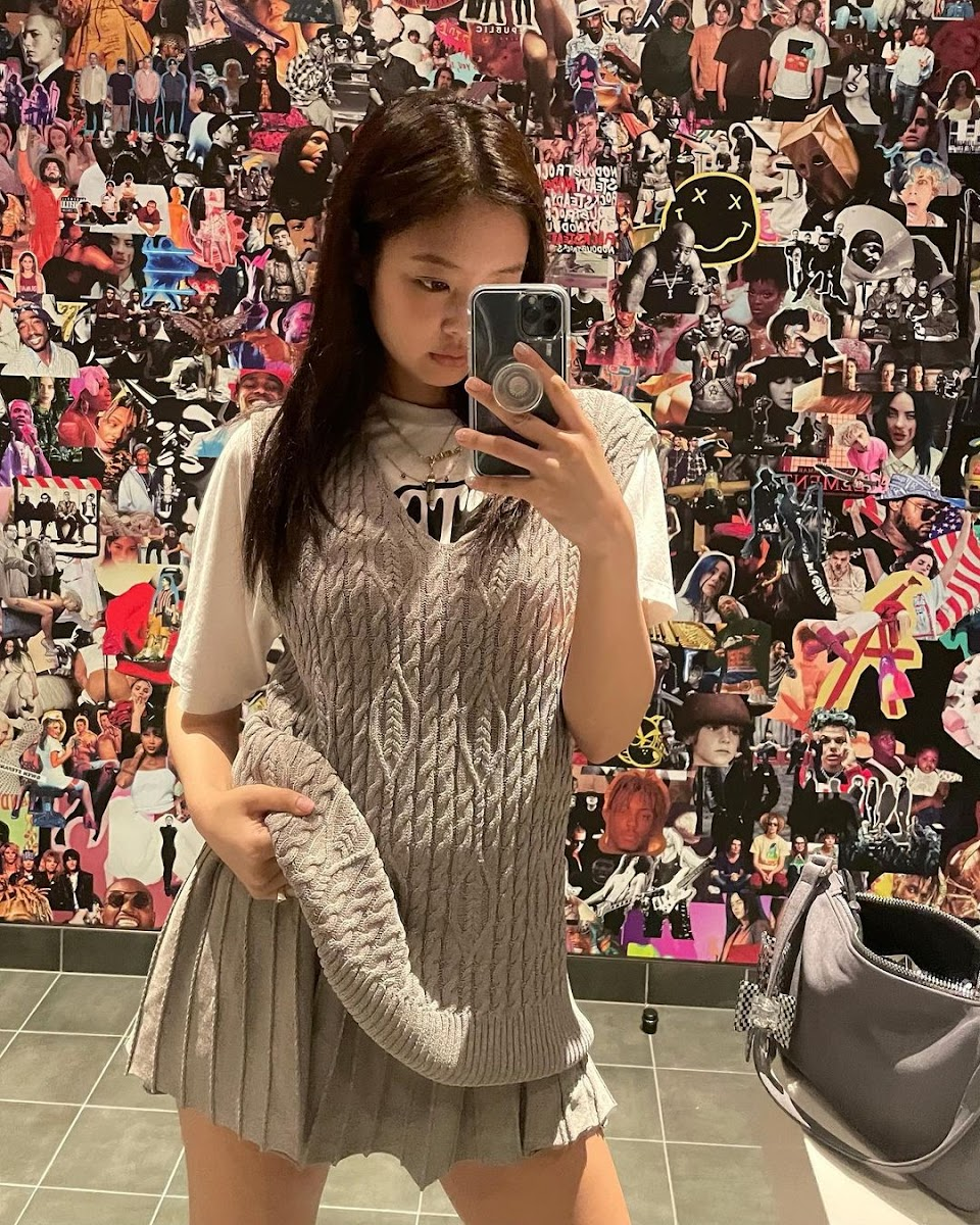 jennie sweater skirt combo