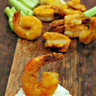 Buffalo Shrimp Appetizer.