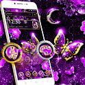 Purple Black Butterfly Diamond Theme icon
