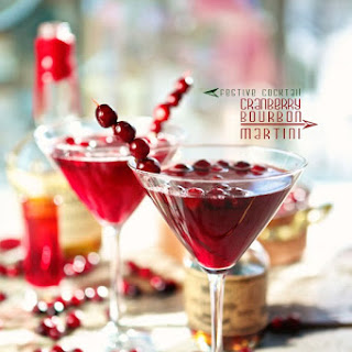 Maple Cranberry Bourbon Martini