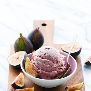 Fresh Fig Ice Cream with Chocolate Flecks.